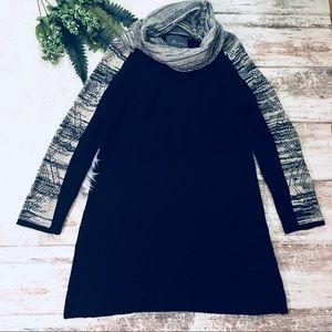 Anthropologie Paper Crane Cowl Neck Sweater Dress